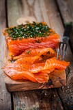 homemades gravlax with dill - 105348208