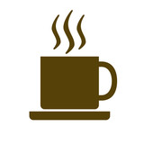 Fototapety Cup of hot coffee or tea. Vector illustration.