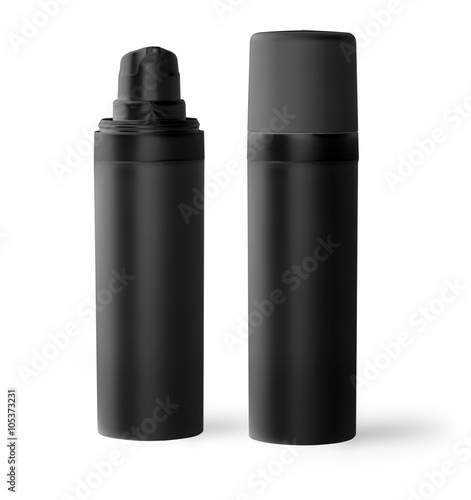 Poster black plastic bottle