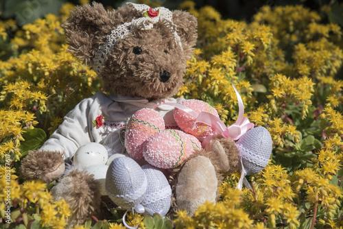 obraz PCV Teddy bear's Easter
