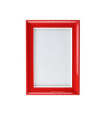 Modern red picture frame isolated.
