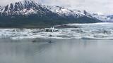 Kayaking by icebergs and glacier, Alaska