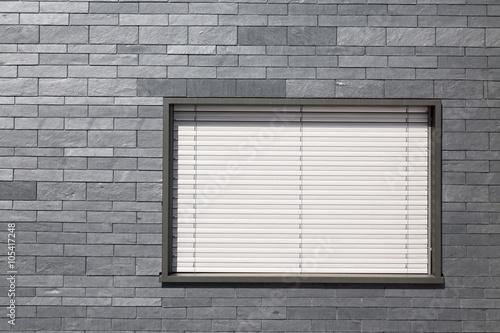 Poster quadro schieferfassade mit fenster su for Fenster 60x40