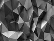 Metal BW Low-Poly Steel Background
