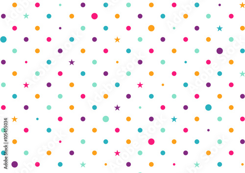 Pastel Colorful Dots White Background Vector Illustration - 105455034