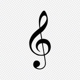 Simple icon of treble key