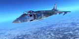 Supersonic Fighter Jet - A pilot takes a fighter jet through flight maneuvers on a training mission.
