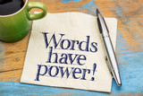Words have power - napkin note