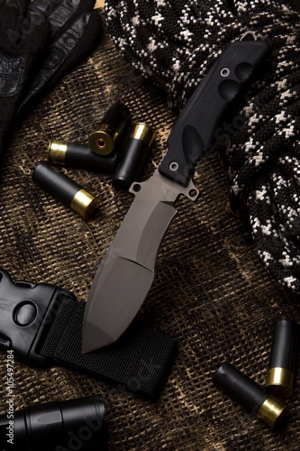 Poster Knife and military set