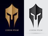 Roman or Greek Helmet , Spartan Helmet, Head protection, warrior graphic vector