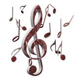 Violinschlüssel, Musiknoten