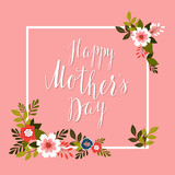 Happy Mother's Day card.Vector