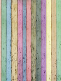 vecchi listelli di legno colorati pastello