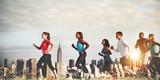 Fototapety Team Running Marathon Healthy Runner Concept