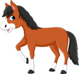 Illustration of a beautiful horse isolated on white background