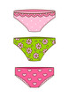 Set of cute color panties