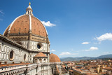 Dramatic View of the Cathedral of Santa Maria del Fiore in Florence, Italy
