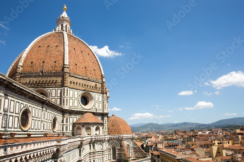 Foto op Canvas Florence Dramatic View of the Cathedral of Santa Maria del Fiore in Florence, Italy