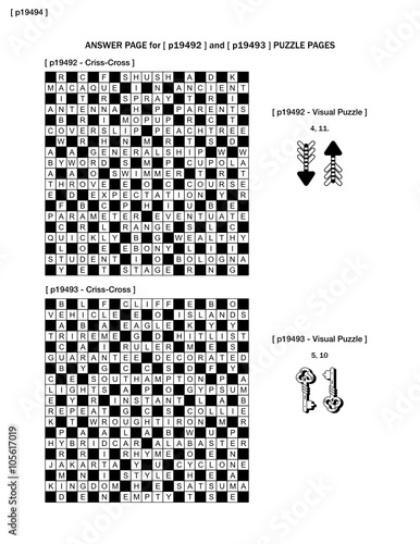 Answer Page To Previous Two Puzzle Pages P19492 And