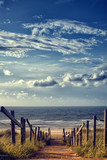 Weg zum Strand am Meer