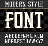 Vector label font, modern style.  Whiskey label style. - 105636421