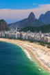 Quadro Copacabana beach in Rio de Janeiro, Brazil