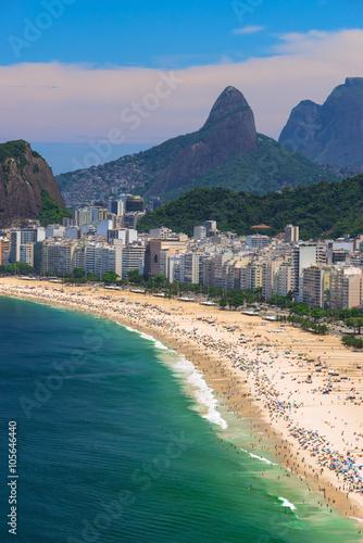 Copacabana beach in Rio de Janeiro, Brazil