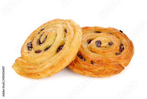 Poster Danish raisin isolated on white