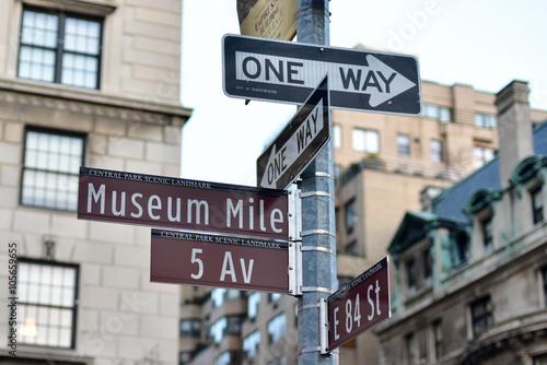 Poster Street Signs along Museum Mile
