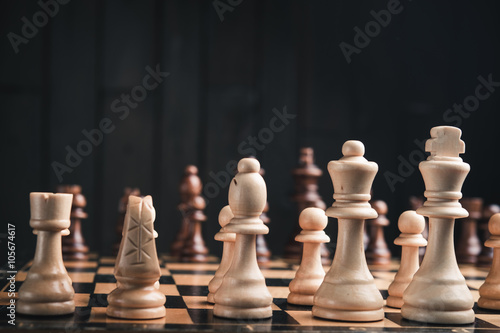 closeup of chess pieces Poster