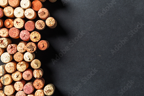 Bunch of wine corks Poster
