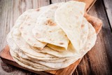 Stack of homemade wheat tortillas