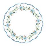 Rozbudowany okrągły wzór ludowy - 105687092
