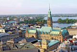 Hamburg town hall Germany with historical building view