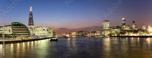 Panorama über die City von London