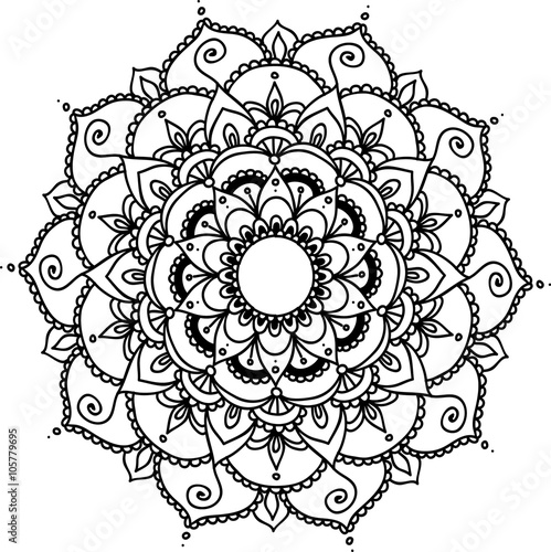 Vector Beautiful Mandala, Patterned Design Element