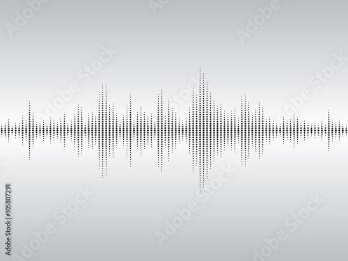 Abstract sound waves.