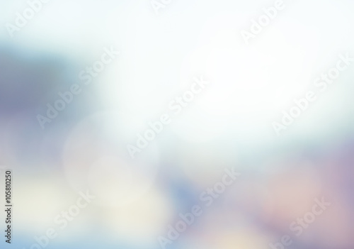 Abstract blur view nature sky blue, circle bokeh background. bok