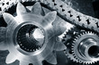 cogwheels, bearings and timing-chain, titanium and steel