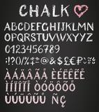 Fototapety Chalk latin multilingual alphabet.