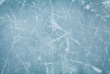 Fototapety Ice hockey rink background or texture, macro, top view