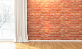 Fototapety Empty bright interior . 3D render