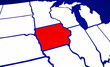 Iowa IA State United States of America 3d Animated State Map