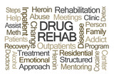 Drug Rehab Word Cloud