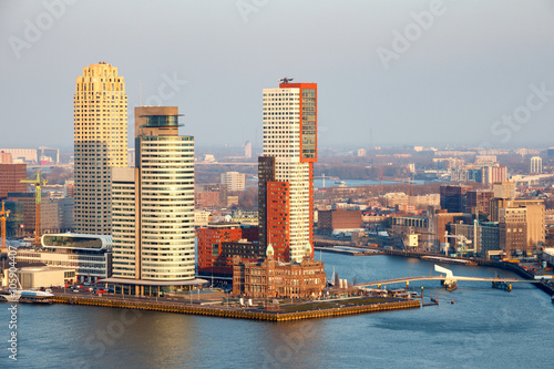Deurstickers Rotterdam Rotterdam skyline. The Netherlands