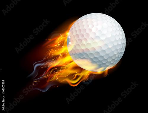 Fototapeta Golf Ball on Fire