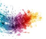 Artistic color splash banner design - 105912807