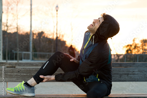 athlete with muscle pain