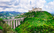 Aqueduct and abbey in Spoleto.Umbria, Italy