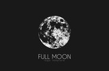 Fototapety Moon logo design. Creative moon logo. Night logo. Full moon.